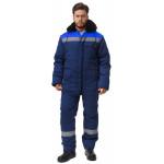 Куртка УРАЛ утепленная, ткань Смесовая, цвет т.синий-василек