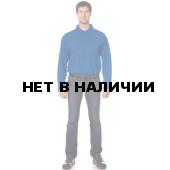 Рубашка Поло с длинным рукавом цвет Васильковый
