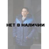 Куртка женская утепленная Снежинка, ткань 100% п/э, цвет т.син.-василек,