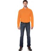 Рубашка Поло с длинным рукавом цвет Оранжевый