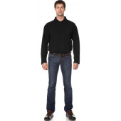 Рубашка Поло с длинным рукавом цвет Черный
