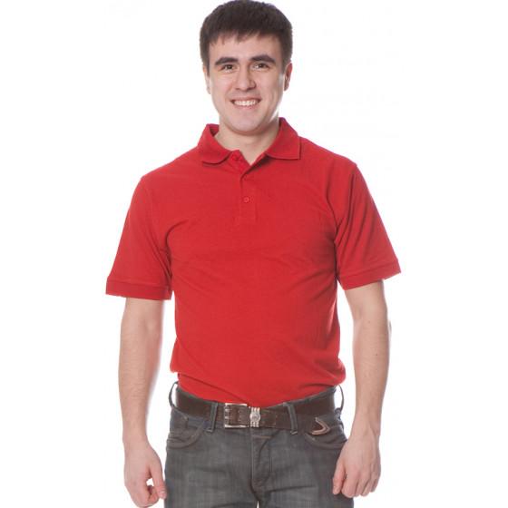 Рубашка Поло с коротким рукавом цвет Красный