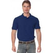 Рубашка Поло с коротким рукавом цвет темно-синий