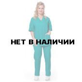 Костюм хирурга (куртка+брюки), ткань смесовая, цвет бирюзовый