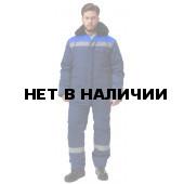 Костюм УРАЛ утепленный, (курт.+бр.), ткань Смесовая, СВП 50, цвет т.синий-василек