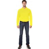 Рубашка Поло с длинным рукавом цвет Желтый