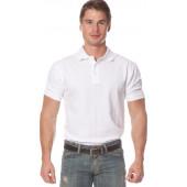 Рубашка Поло с коротким рукавом цвет Белый