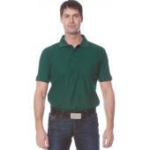 Рубашка Поло с коротким рукавом цвет темно-зеленый