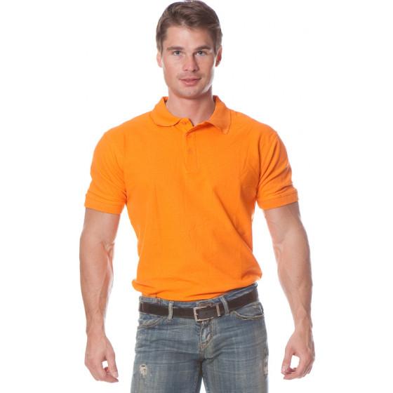 Рубашка Поло с коротким рукавом цвет Оранжевый