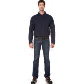 Рубашка Поло с длинным рукавом цвет темно-синий