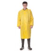 Плащ влагозащитный, ткань нейлон с ПВХ покрытием, цвет желтый