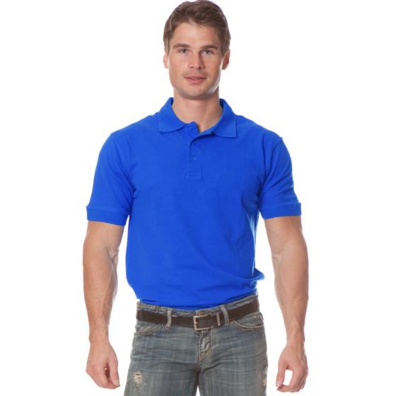 Рубашка Поло с коротким рукавом цвет Васильковый