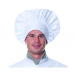 Колпак поварской, ткань смесовая, цвет белый, Белый