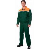 Костюм СТАФФ (курт.+п.комб.), ткань Смесовая, цвет зел.-оранж.