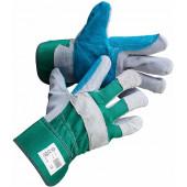 Перчатки спилковые комбинированные, усиленные Рокс
