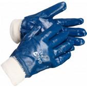 Перчатки нитриловые (трикотажный манжет, полное покрытие) Нитролакс (12/120пар в упак.)