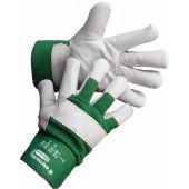 Перчатки кожаные комбинированные Бизон