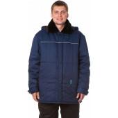 Куртка БУРЖУЙКА утепленная, ткань Смесовая, цвет т.синий