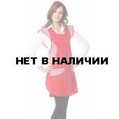 Фартук-сарафан,тк.смесовая,цв.красный