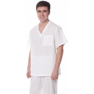 Костюм пекаря (куртка+брюки),тк. бязь,цв.белый