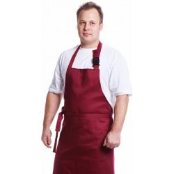 Фартук поварской, ткань смесовая, цвет бордовый
