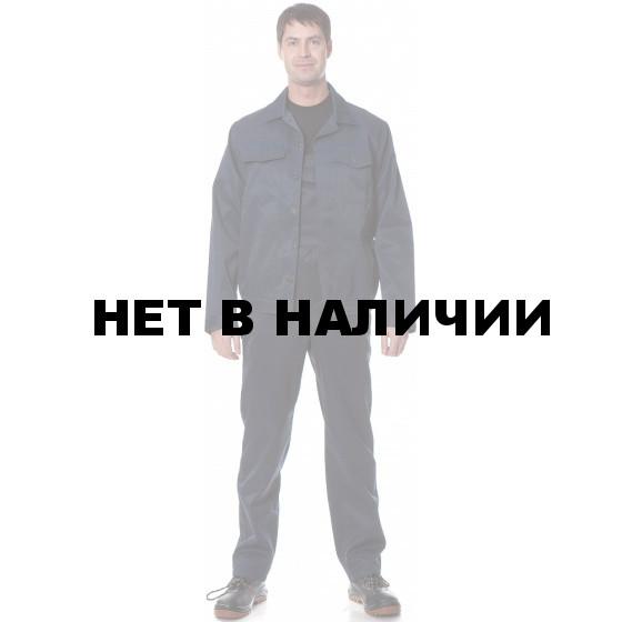Костюм УНИВЕРСАЛ2 (курт.+п.комб.), ткань Смесовая, цвет т.син.-василек