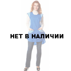 Фартук-сарафан,тк.смесовая,цв.василек