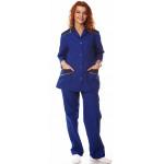 Костюм женский Силуэт (куртка+брюки),тк.смесовая,цв.василек-т.синий