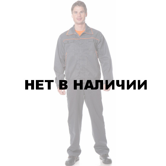 Костюм УНИВЕРСАЛ2 (курт.+п.комб.), ткань Смесовая, цвет сер.-оранж.