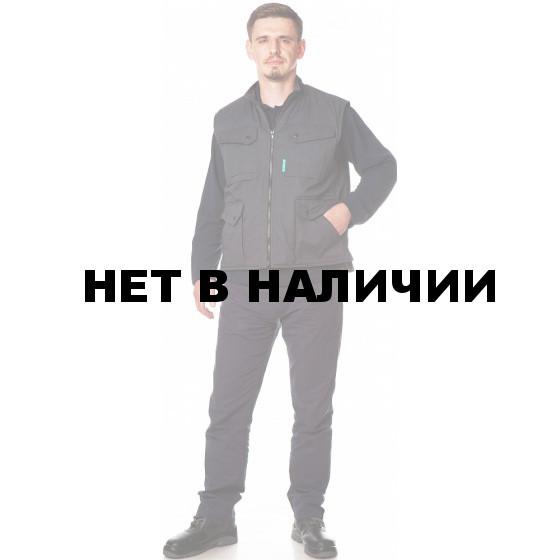 Жилет КОМФОРТ утепл., ткань Смесовая, цвет т.серый