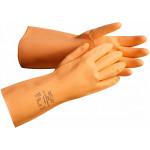 Перчатки латексные Янтарь(дл.320мм,толщ.0,75мм, хлопковая подкладка)