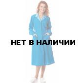 Халат женский Смена, ткань смесовая, цвет голубой-св.голубой