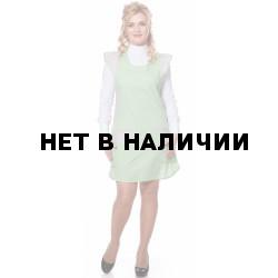 Фартук-сарафан,тк.смесовая,цв.салатовый