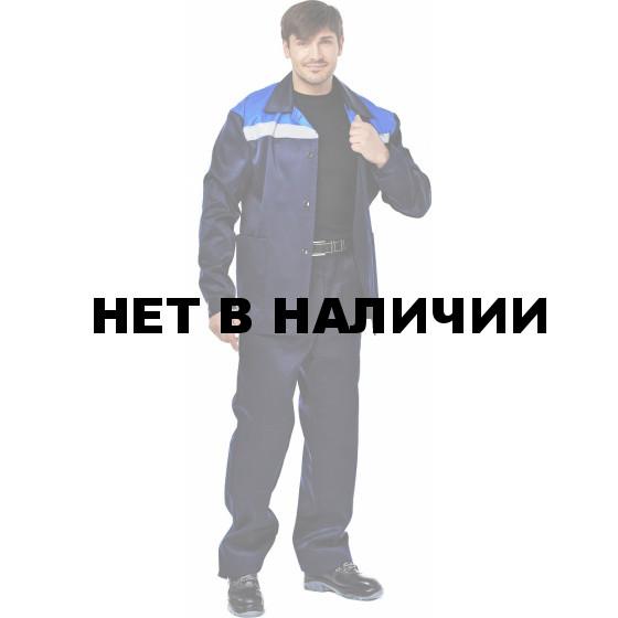 Костюм ВОСХОД (курт.+бр.), ткань Смесовая, СВП, цвет т.син.- василек