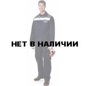 Костюм ПРОФИ (курт.+п.комб.), ткань Смесовая, цвет т.син.-т.сер.