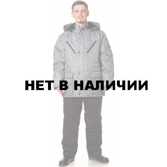 Куртка БАРГУЗИН утепленная, ткань Таслан, цвет св.серый