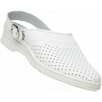 0ee9b1901 Сабо женские кожаные цвет Белый недорого - 1 002 р. | Магазин ...