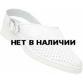 Сабо женские кожаные цвет Белый