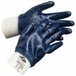 Перчатки нитриловые Эверест Лайт РП (манжет резинка, полный облив, облегченные)