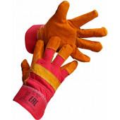 Перчатки спилковые комбинированные утепленные Ирбис,
