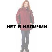 Куртка женская СИТИ2 утеп., ткань Полиэстер, цвет борд.-черн.