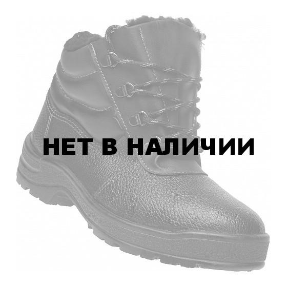 Ботинки кожаные утепленные с металлическим подноском Профи