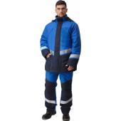 Костюм ИРТЫШ утепленный (куртка+п.комб.), ткань Смесовая, цвет т.синий-василек
