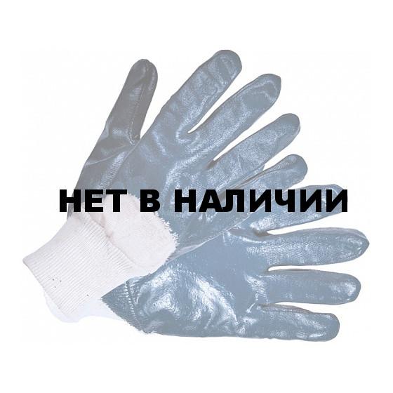 Перчатки нитриловые (трикотажный манжет, частичное покрытие) Нитролакс