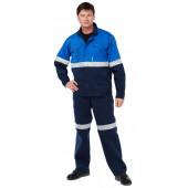 Костюм Стейн (куртка+полукомбинезон) цвет Т.синий-василек