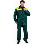 Костюм ВОСХОД (курт.+бр.), ткань Смесовая, СВП, цвет зелен.-желтый