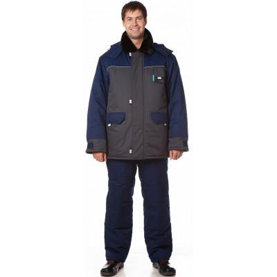 Костюм утепленный Арктика (куртка+полукомбинезон) цвет Синий-т.серый