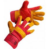 Перчатки спилковые комбинированные Ирбис