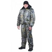 Костюм утепленный НОРД (куртка+п.комб.), ткань смесовая, цвет лес,