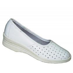 Туфли кожаные женские белые